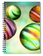 Colorful Glass Marbles Spiral Notebook
