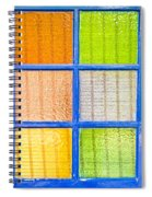 Colorful Glass Spiral Notebook