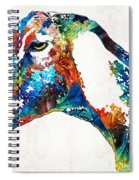 Colorful Goat Art By Sharon Cummings Spiral Notebook