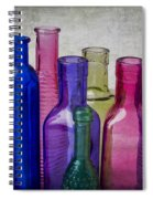 Colorful Group Of Bottles Spiral Notebook