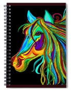 Colorful Horse Head 2 Spiral Notebook
