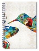 Colorful Hummingbird Art By Sharon Cummings Spiral Notebook