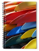 Colorful Kayaks Spiral Notebook