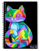 Colorful Kitten Spiral Notebook