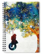 Colorful Landscape Art - The Dreaming Tree - By Sharon Cummings Spiral Notebook