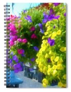 Colorful Large Hanging Flower Plants 1 Spiral Notebook