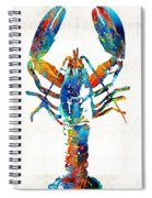 Colorful Lobster Art By Sharon Cummings Spiral Notebook