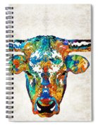 Colorful Longhorn Art By Sharon Cummings Spiral Notebook