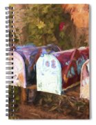 Colorful Mailboxes Santa Fe Painterly Effect Spiral Notebook