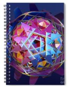 Colorful Metallic Orb Spiral Notebook