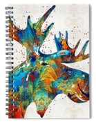 Colorful Moose Art - Confetti - By Sharon Cummings Spiral Notebook