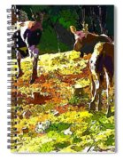 Colorful Moose Spiral Notebook