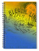 Colorful Old Bleach Linen Ad Spiral Notebook