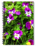 Colorful Pansies Spiral Notebook
