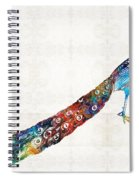 Colorful Peacock Art By Sharon Cummings Spiral Notebook