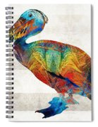 Colorful Pelican Art By Sharon Cummings Spiral Notebook