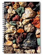 Colorful Rock Wall With Border Spiral Notebook