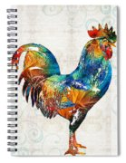 Colorful Rooster Art By Sharon Cummings Spiral Notebook