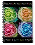 Colorful Rose Spirals With Love Spiral Notebook