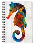 Colorful Seahorse Art By Sharon Cummings Spiral Notebook