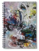 Colorful Seascape Abstract Landscape Spiral Notebook