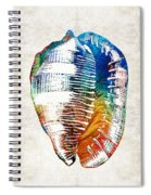 Colorful Seashell Art - Beach Trio - By Sharon Cummings Spiral Notebook