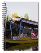 Colorful Shikaras Tied Up Next To The Dal Lake In Srinagar Spiral Notebook