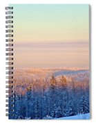 Colorful Snow Valley Spiral Notebook