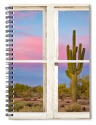 Colorful Southwest Desert Window Art View Spiral Notebook