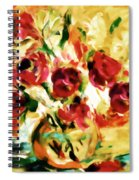 Colorful Spring Bouquet - Abstract  Spiral Notebook