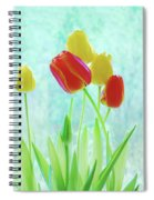 Colorful Spring Tulip Flowers Spiral Notebook