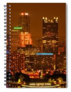 Colorful Summer Night In Pittsburgh Spiral Notebook