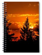 Colorful Sunset Spiral Notebook