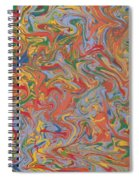 Colorful Swirls Drip Painting Spiral Notebook