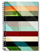 Colorful Textured Abstract Spiral Notebook