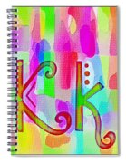 Colorful Texturized Alphabet Kk Spiral Notebook
