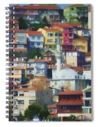 Colorful Town Spiral Notebook