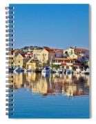 Colorful Town Of Tribunj Waterfront Spiral Notebook
