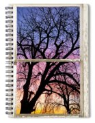 Colorful Tree White Farm House Window Portrait View Spiral Notebook
