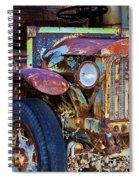 Colorful Vintage Car Spiral Notebook