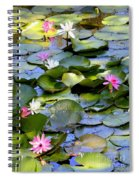 Colorful Water Lily Pond Spiral Notebook