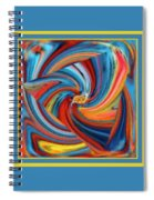 Colorful Waves Spiral Notebook
