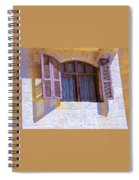 Colorful Window Shutters Spiral Notebook
