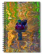 Colorful World Of Wood Duck Spiral Notebook