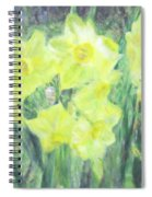 Colorful  Yellow Flowers Spiral Notebook