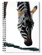Colorful Zebra 2 Spiral Notebook