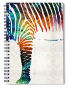 Colorful Zebra Art By Sharon Cummings Spiral Notebook