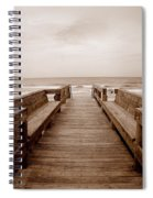 Colorless Seascape Spiral Notebook