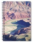 Colorodo River Flowing Through The Grand Canyon Spiral Notebook