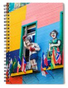 Colors And Statues Spiral Notebook